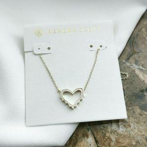 Nwot Kendra Scott Sophee gold heart necklace
